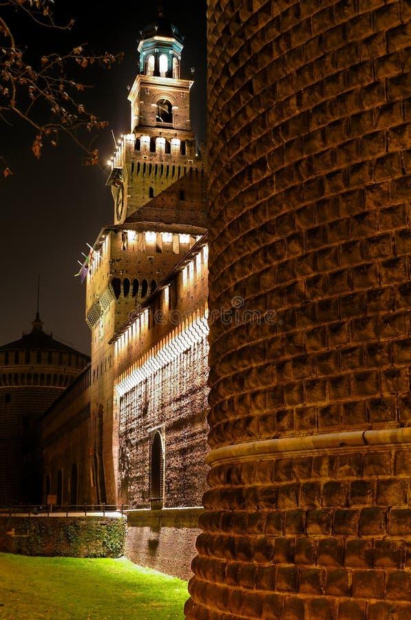 Castillo medieval en la noche (5) fotos de archivo libres de regalías