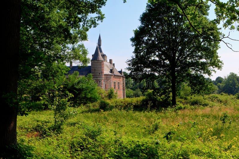 Castillo medieval Horst, Bélgica foto de archivo