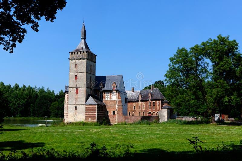 Castillo medieval Horst, Bélgica fotografía de archivo libre de regalías