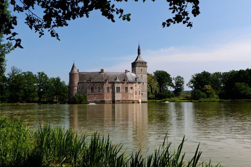 Castillo medieval Horst, Bélgica fotos de archivo