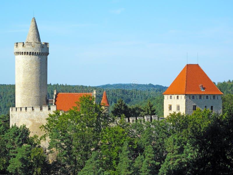 Castillo medieval Kokorin fotografía de archivo libre de regalías