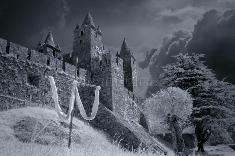 Castillo medieval prestado imagenes de archivo