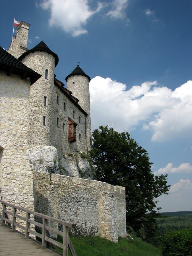 Castillo medieval restaurado de Bobolice cerca de Czestochowa foto de archivo