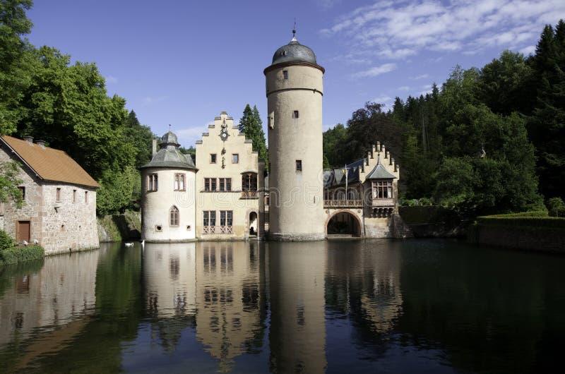 Castillo Mespelbrunn, Spessart del agua foto de archivo