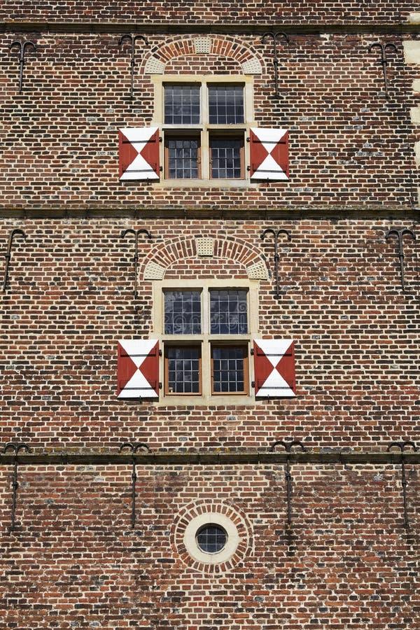 Castillo Moated Raesfeld Alemania - pared foto de archivo libre de regalías