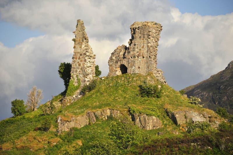Castillo Mohel, Kyleakin fotografía de archivo libre de regalías