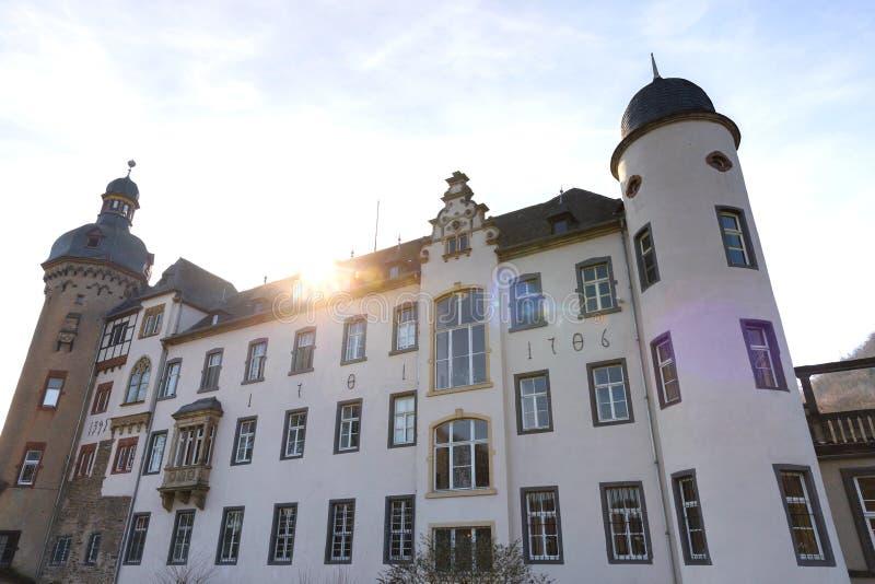 Castillo namedy cerca del río Rhine Alemania fotos de archivo libres de regalías