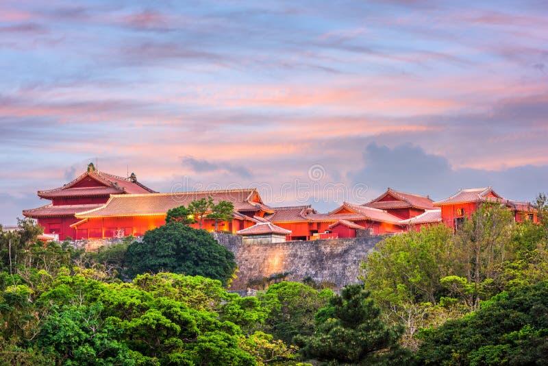 Castillo Okinawa de Shuri foto de archivo