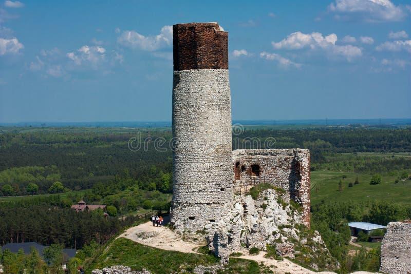 Castillo Olsztyn imagen de archivo