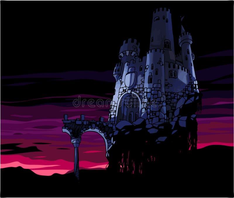 Castillo oscuro stock de ilustración