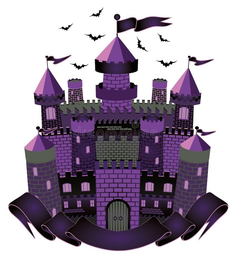 Castillo oscuro de la bruja ilustración del vector