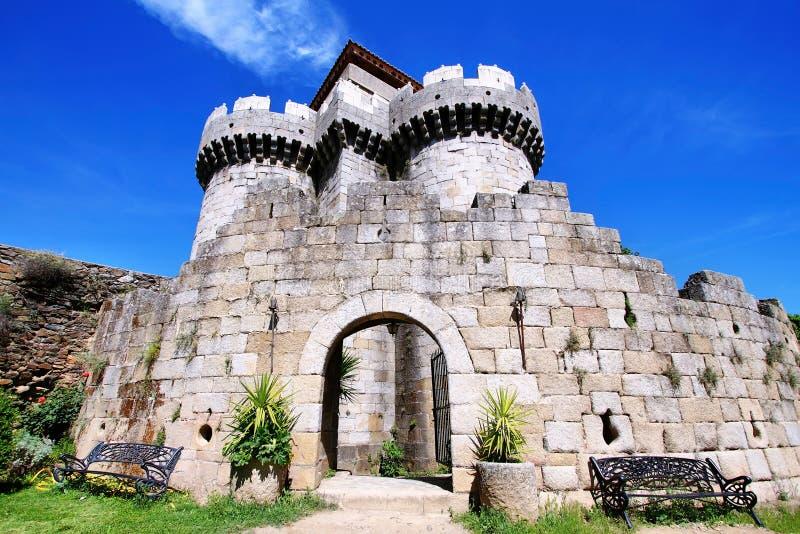 Castillo público de la granadilla fotografía de archivo