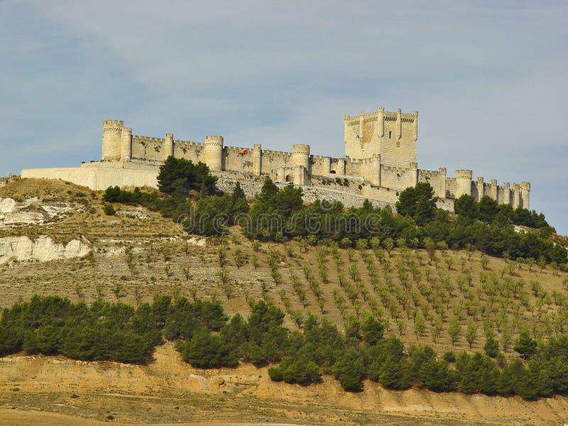 Castillo Penafiel, España fotografía de archivo libre de regalías