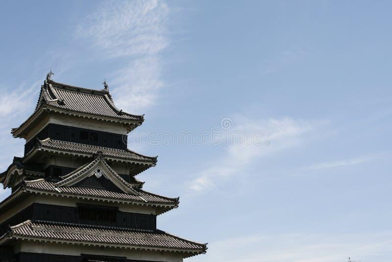 Castillo por las nubes fotografía de archivo