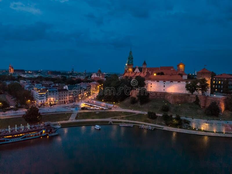 Castillo real de Wawel foto de archivo