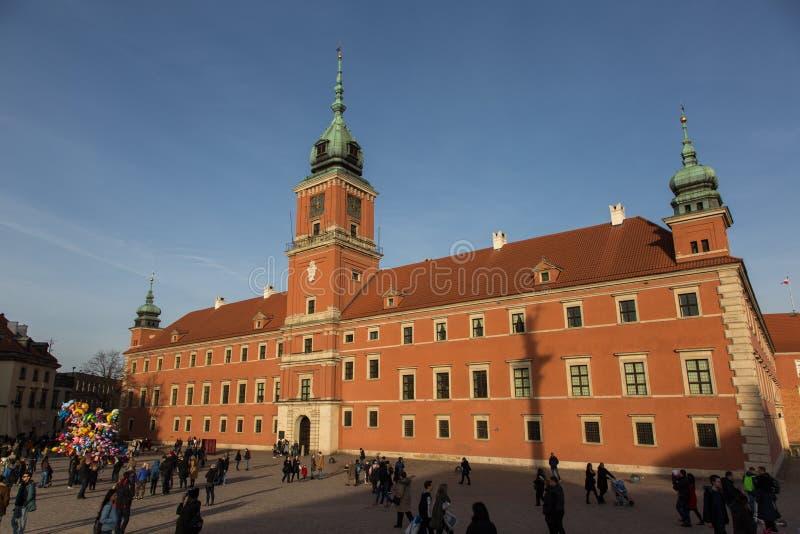 Castillo real en Varsovia foto de archivo