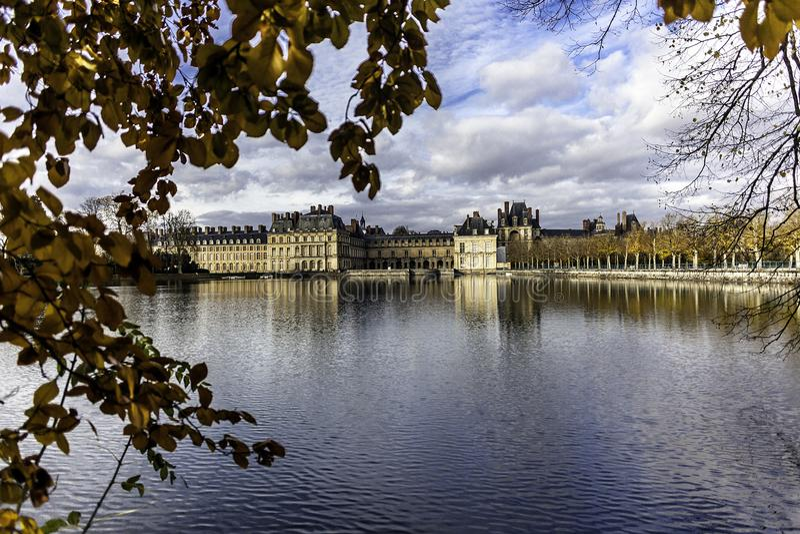 Castillo real Fontainebleau imagen de archivo