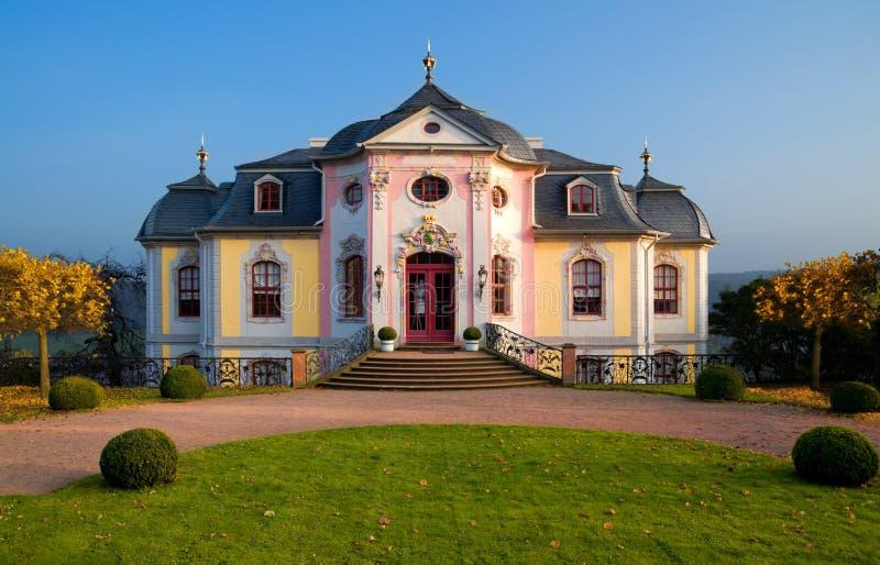Castillo rococó Dornburg, Alemania foto de archivo libre de regalías
