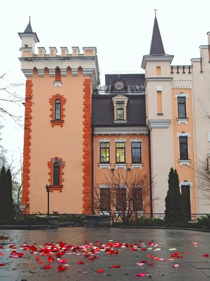 Castillo romántico imagen de archivo