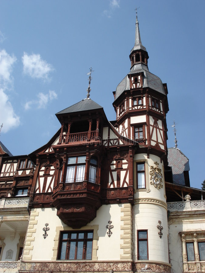 Castillo Hermoso De Peles, Transilvania Imagen de archivo