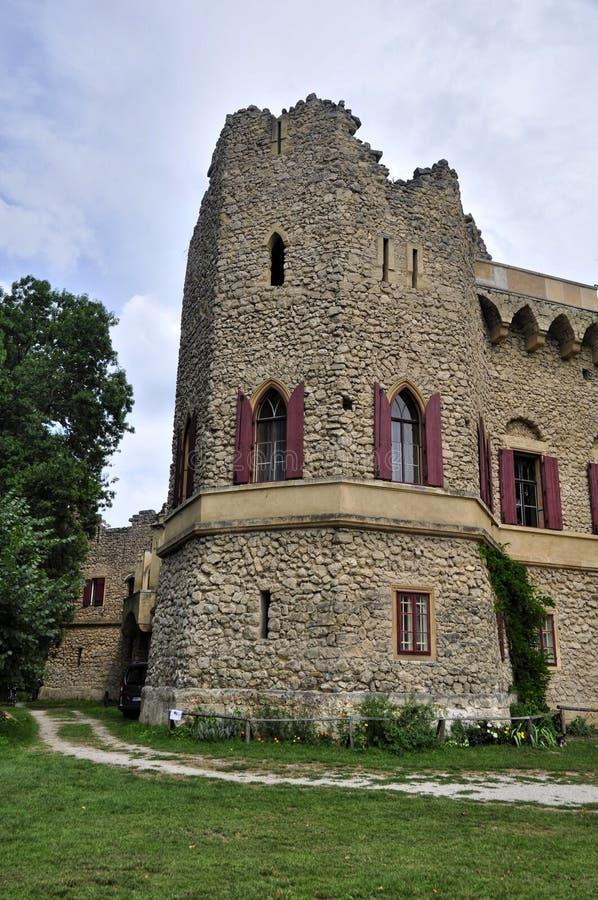 Castillo romántico del hrad de Januv de la ruina foto de archivo