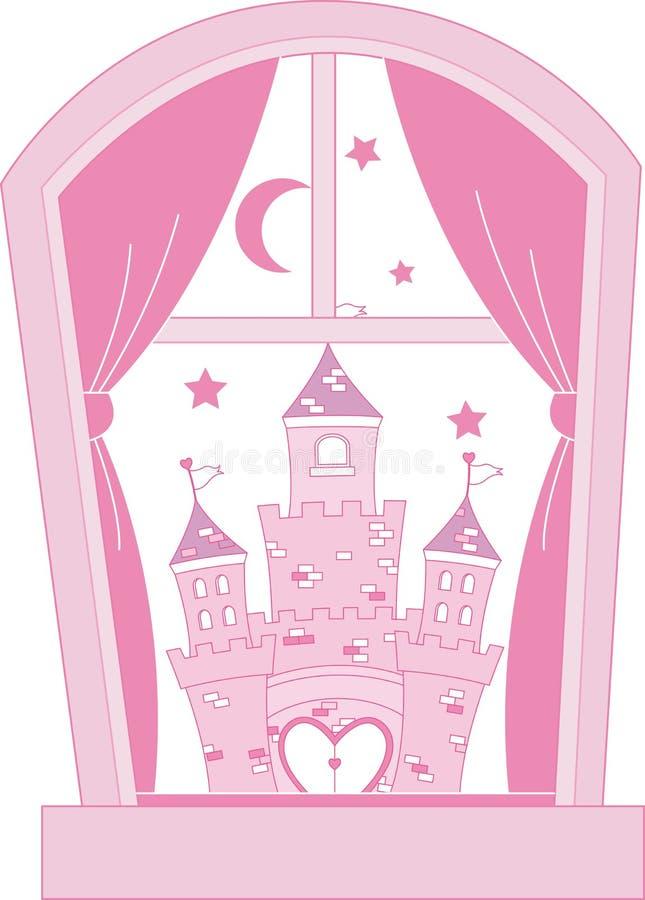 Castillo rosado de la princesa libre illustration