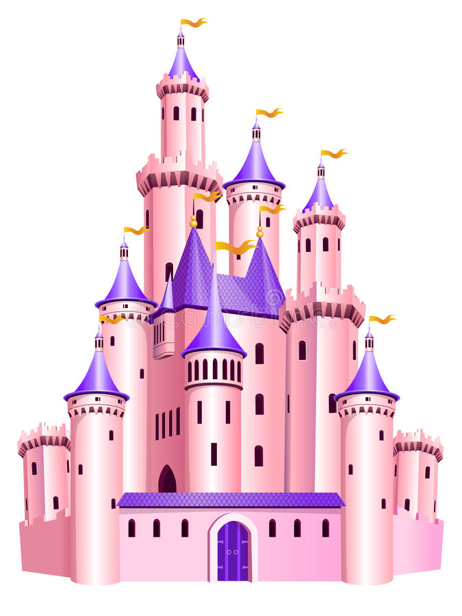 Castillo rosado de la princesa libre illustration