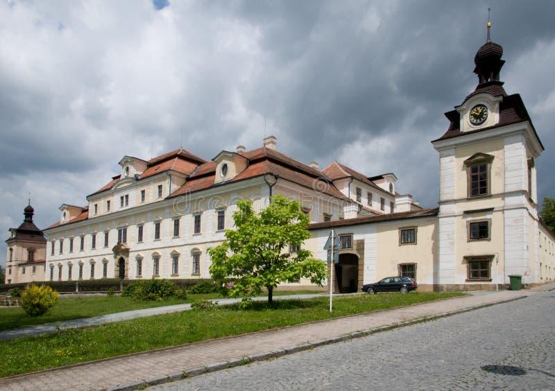 Castillo Rychnov nad Kneznou, República Checa imagen de archivo libre de regalías