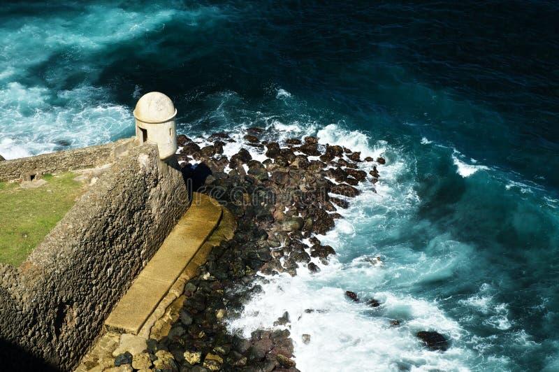Castillo San, bastión en San Juan imagen de archivo