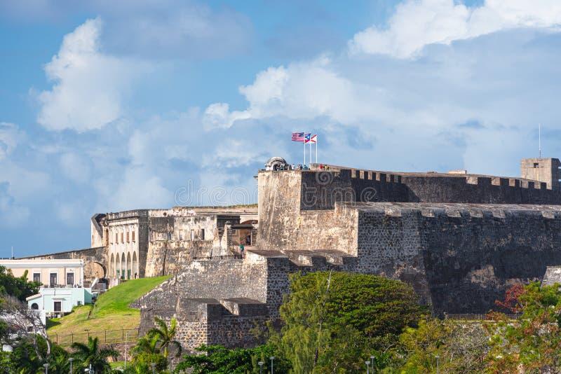 Castillo San Cristobal, San Juan, Puerto Rico stockfotos