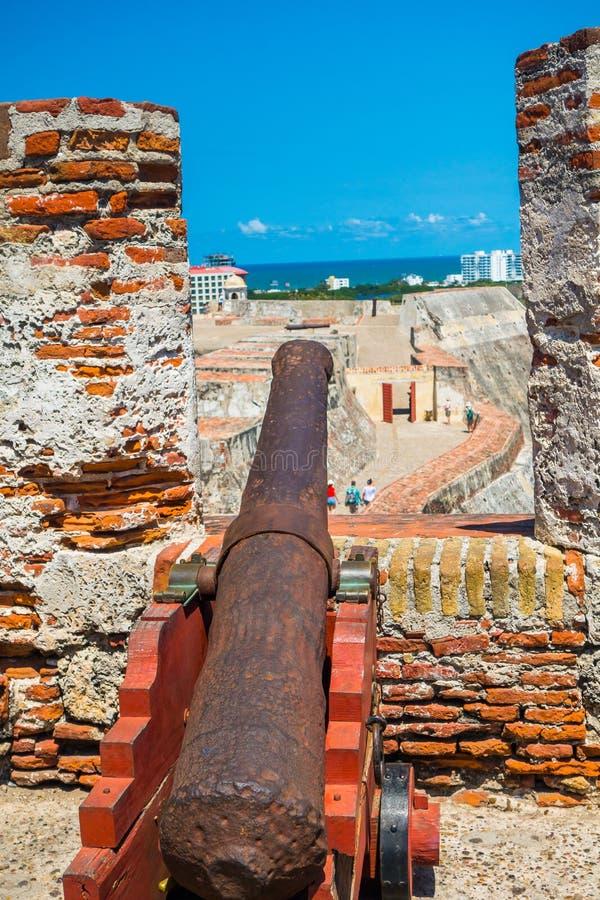 Castillo San Felipe Barajas, indrukwekkende vesting royalty-vrije stock afbeeldingen