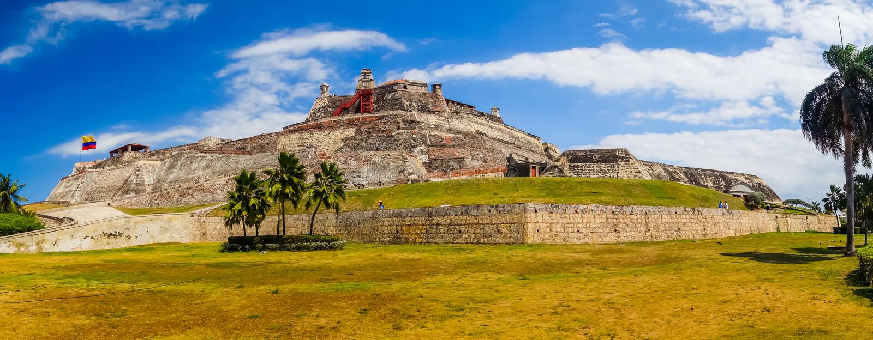 Castillo San Felipe Barajas, indrukwekkende vesting stock afbeelding