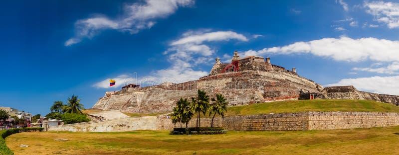 Castillo San Felipe Barajas, indrukwekkende vesting royalty-vrije stock foto's