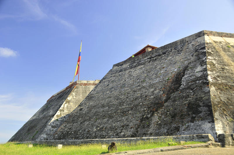 Castillo San Felipe de Barajas imagem de stock royalty free