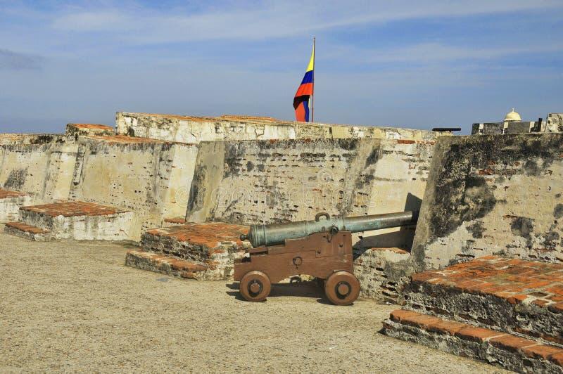 Castillo San Felipe de Barajas foto de stock