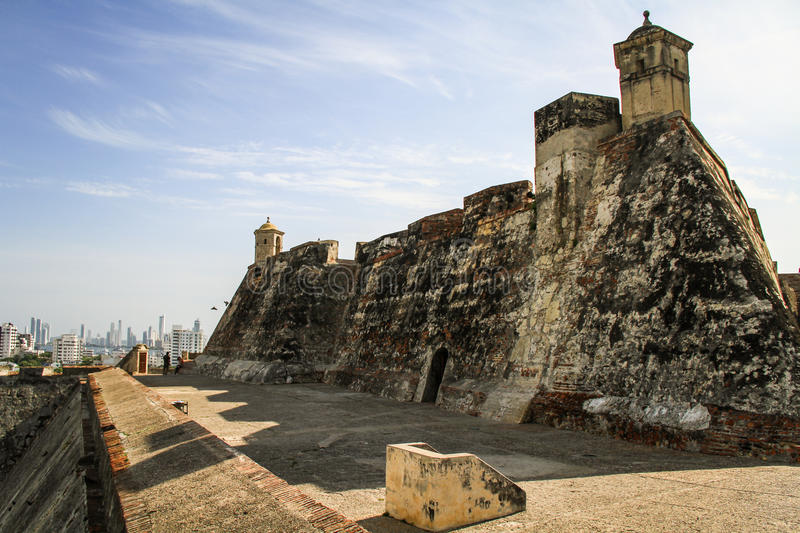 Castillo San Felipe de Barajas, Carthagène de Indias, Colombie photo stock