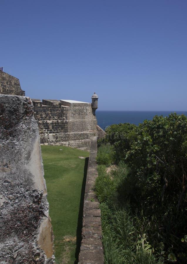 Castillo San Felipe del Moro San Juan Puerto Rico fotografia stock libera da diritti