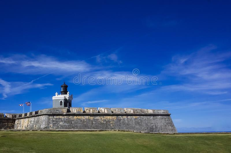 Castillo San Felipe del morro à San Juan, Porto Rico images stock