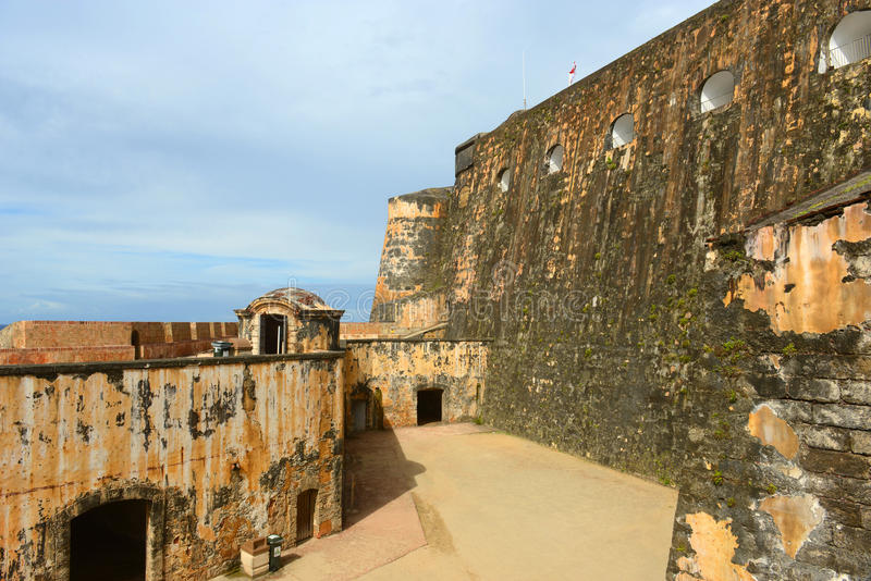 Castillo San Felipe del Morro, Сан-Хуан стоковое изображение