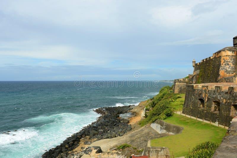 Castillo San Felipe del Morro, Сан-Хуан стоковое изображение rf