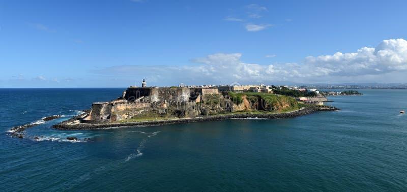 Castillo San Felipe del Morro San Juan arkivbild