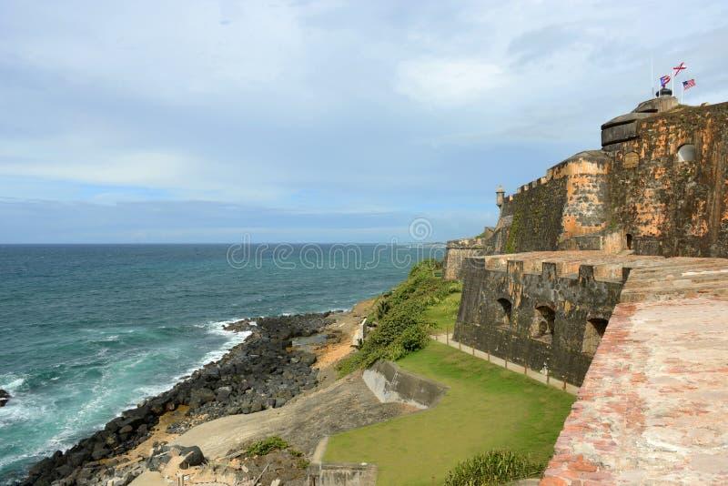 Castillo San Felipe Del Morro, San Juan fotografia royalty free