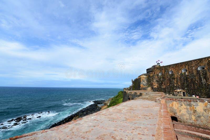 Castillo San Felipe Del Morro, San Juan obrazy stock