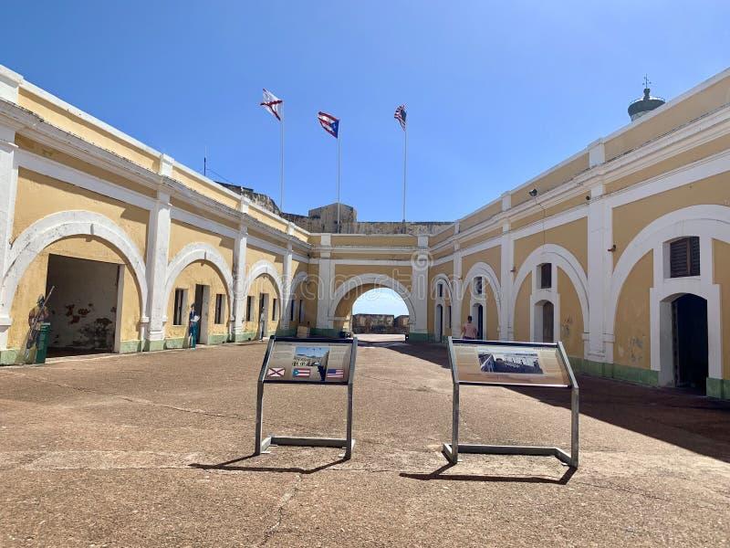 Castillo San Felipe del Morro, también conocido como EL Morro en viejo San Juan Puerto Rico imagen de archivo libre de regalías