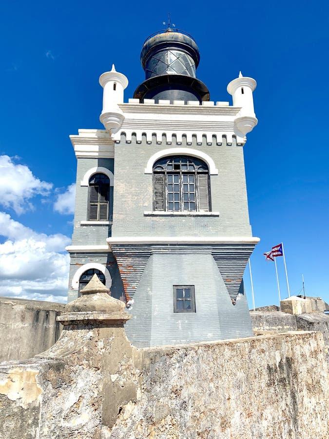 Castillo San Felipe del Morro, también conocido como EL Morro en viejo San Juan Puerto Rico foto de archivo libre de regalías