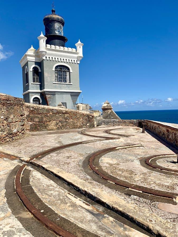 Castillo San Felipe del Morro, también conocido como EL Morro en viejo San Juan Puerto Rico fotografía de archivo libre de regalías
