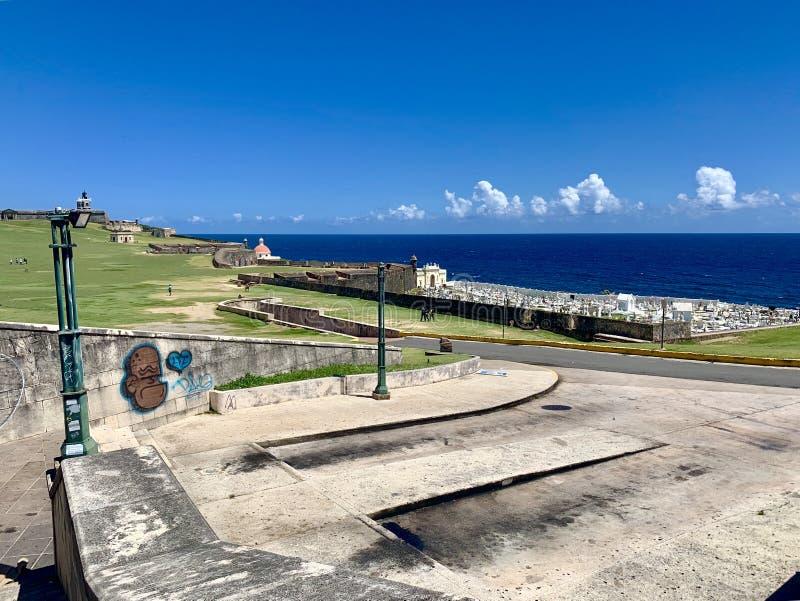 Castillo San Felipe del Morro, también conocido como EL Morro en viejo San Juan Puerto Rico imagen de archivo