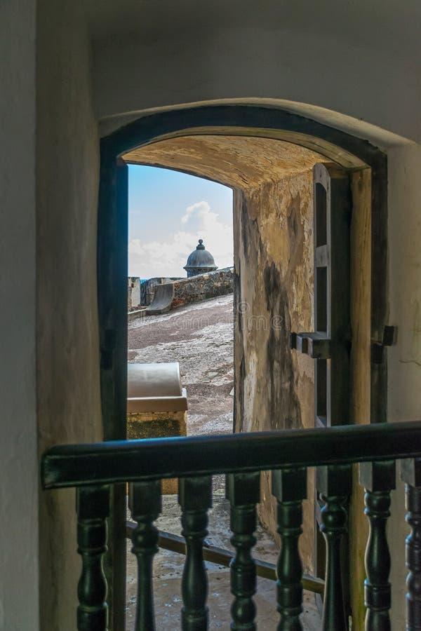 Castillo San Felipe Del Morrro, San Juan viejo, Puerto Rico imagen de archivo