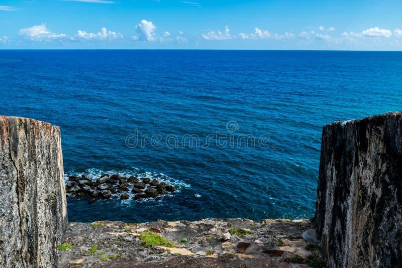 Castillo San Felipe Del Morrro, San Juan viejo, Puerto Rico imagenes de archivo