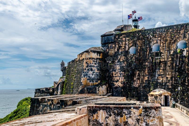 Castillo San Felipe Del Morrro, San Juan viejo, Puerto Rico foto de archivo libre de regalías